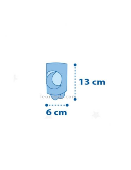 Dimensiones de quitamiedos LED Rosa   LeonLeds Iluminación Infantil