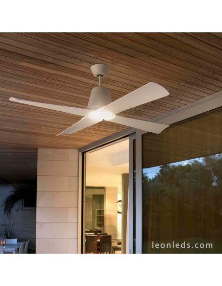 Ventilador de techo LED para exterior modelo Typhoon de Faro Barcelona | LeonLeds Ventiladores LED