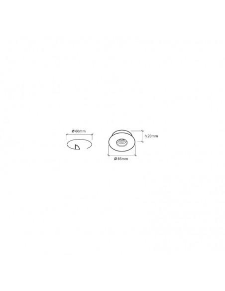 Dimensiones de Aro Empotrable estanco BPM 4205 | LeonLeds Aros Empotrables