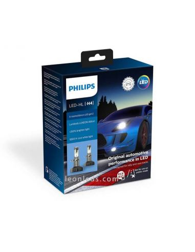 Bombillas LED H4 Philips X-treme Ultinon GEN2 | LeonLeds Bombillas LED Philips H4