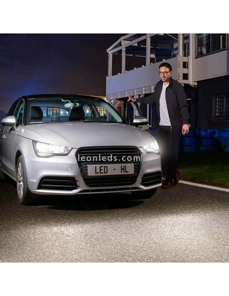 Bombillas LED Philips H7 Ultinon instaladas en Audi A1 | LeonLeds Bombillas LED
