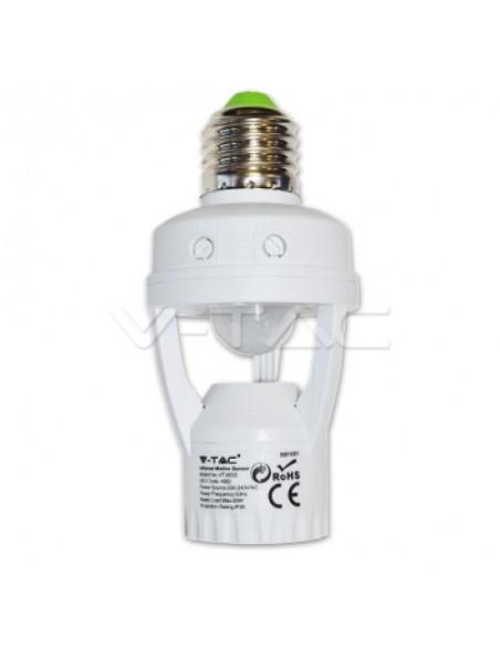 Sensor de Presencia para Bombilla E27 sin Instalación 4982 V-tac Regulable | LeonLeds