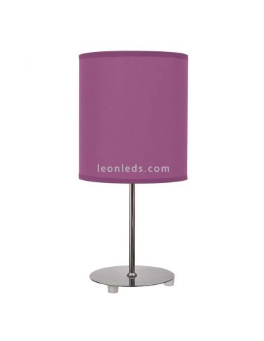 Lámpara de Sobremesa Morada serie Nicole | LeonLeds Iluminación Decorativa