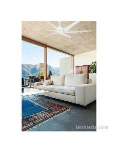 Ventilador de techo grande blanco serie Cies de Faro Barcelona | LeonLeds Faro Barcelona