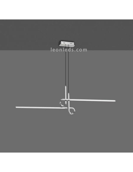 Lámpara de Techo LED Cinto Cromada | LeonLeds Lámparas de techo LED