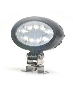 Faro LED ovalado de trabajo para instalar en Maquinaria Industrial | LeonLeds Faros LED