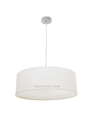 Lámpara de Techo textil de color beis de la serie Adriático   LeonLeds Lámparas de techo