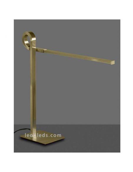 Lámpara de Sobremesa Cuero Satinado de estilo moderna con tecnología LED de la serie Cinto | LeonLeds Lámparas LED
