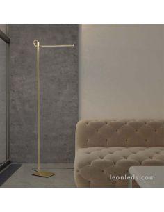 Lámpara de Pie LED de estilo moderno en acabado Cuero Satinado de la serie Cinto 6145 | LeonLeds Lámparas de Pie LED