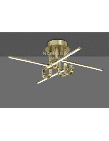 Plafon LED moderna serie Cinto Cuero satinado de Mantra 6128