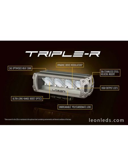 Lazer Triple R24 Largo Alcance potente | LeonLeds Barras LED