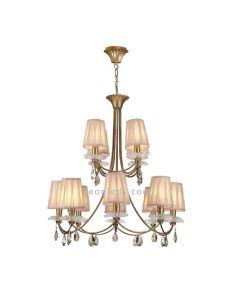 Lámpara de Techo Clasica dorada serie Shopie con 14 Bombillas | LeonLeds Lámparas Clasicas