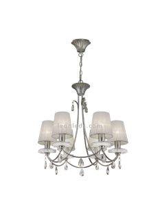 Lámpara de techo Plateada de la serie Sophie de Mantra 6302 | Lámparas de Techo LeonLEDS