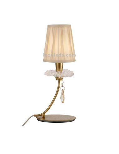 Lámpara de Sobremesa Dorada de estilo Clasico de la serie Paola de Mantra 6297
