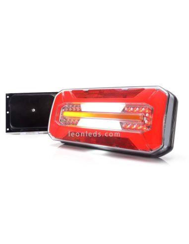 Piloto trasero LED sin triangulo con luz efecto Neon e intermitente progresivo