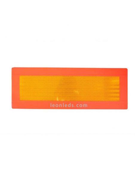 Placa de señalización trasera rectangular reflectante de vehículo largo