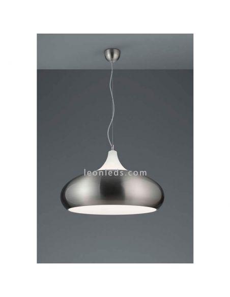 Lámpara de Techo moderna Niquel y blanca serie Lisboa