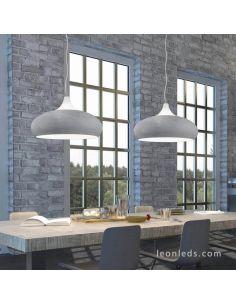 Lámpara de techo cemento serie Lisboa de Trio Lighting
