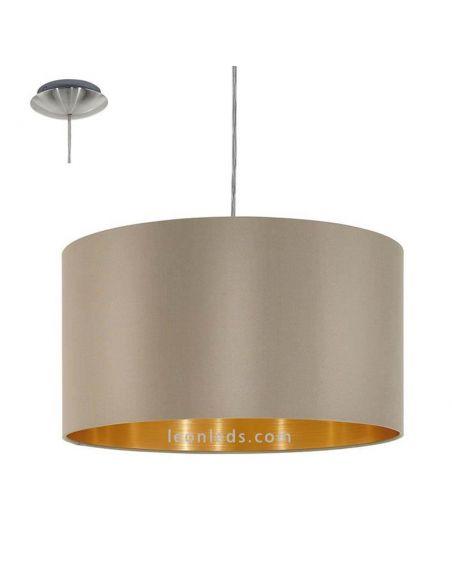 Lámpara de Techo moderna serie Maserlo de color marrón y trufa