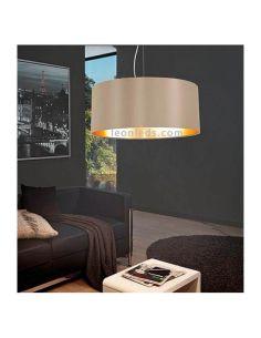 Lámpara de Techo moderna de color Trufa y oro