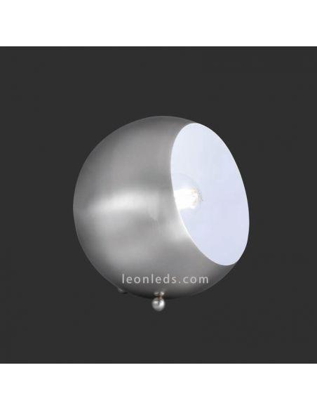 Lámpara de sobremesa Redonda metalica moderna Niquel Mate serie billy