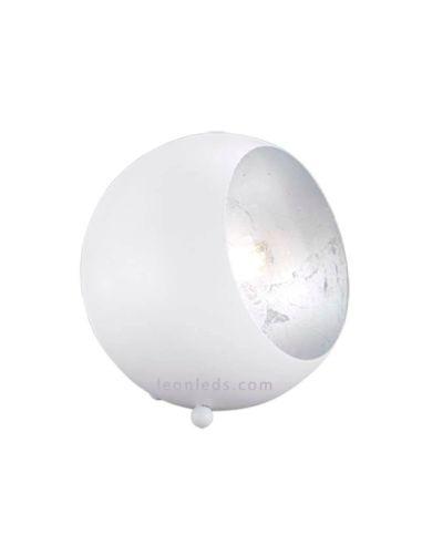 Lámpara de sobremesa redonda de color blanca serie Billy