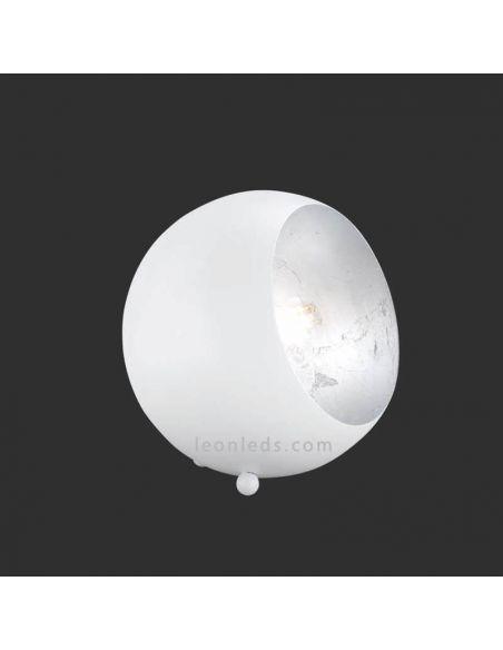 Lámpara de sobremesa redonda blanca serie Billy de Trio Lighting