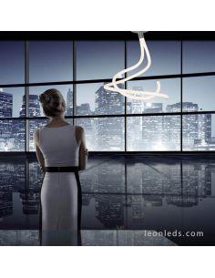 Lámpara de techo LED Line de Mantra blanca y Cromada