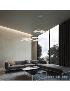 Lámpara de techo LED redonda de diseño moderno Line Inifnity de Mantra | LeonLeds Mantra Iluminación