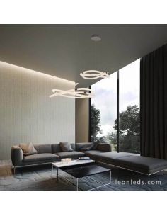 Lámpara de Techo LED redonda serie Nur de Mantra 6607 | LeonLeds Lámpara LED de techo