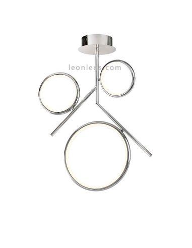 Plafón LED Cromado serie Olimpia de Mantra 6581 6591 | Plafones LED modernas de Mantra