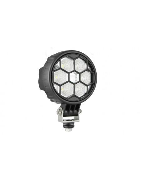 Faro de trabajo Redondo LED con Tapa protectora Calidad EMC IP68 IP69K Tractor 4x4 | LeonLeds Iluminación