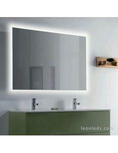Cristal con luz LED para baño y botón táctil modelo Estela de ACB | LeonLEDS Cristales con Luz LED