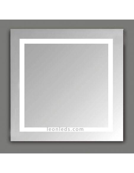 Espejo cuadrado Led serie Mul de ACB | LeonLeds Espejos LED para baño