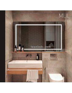 Espejo con luz LED por la parte delatera serie Mul | LeonLeds Iluminación
