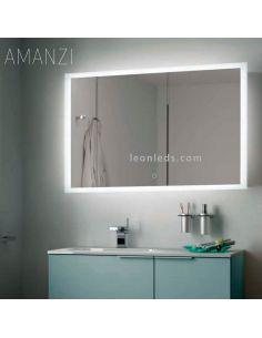 Espejo LED de la serie Amanzi con botón táctil | LeonLeds Espejos LED