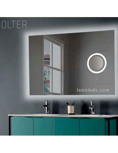 Espejo LED para baño con luz LED y espejo de aumento con luz Olivia | LeonLeds Todo en Iluminación LED