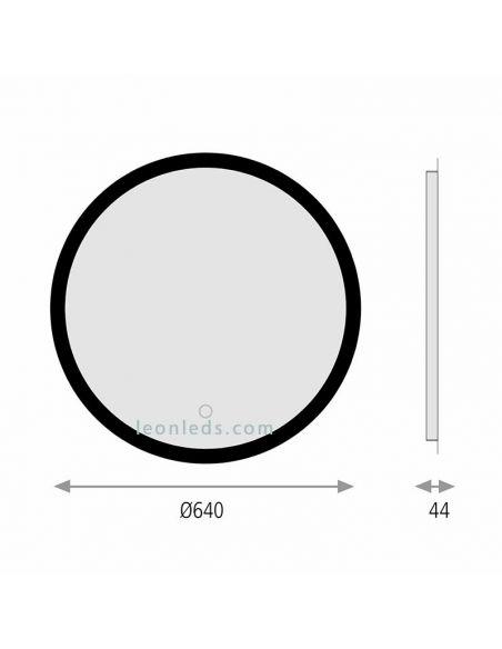 Espejo LED redondo serie Petra de ACB Iluminación | LeonLeds Espejos LED