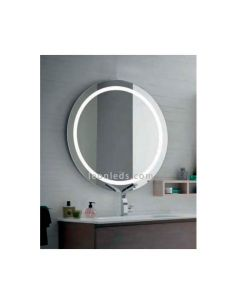 Espejo LED redondo Mauro con botón tactil modelo Mauro | LeonLeds Espejos LED