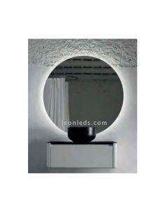 Espejo LED redondo modelo Bari de ACB Iluminación con botón Tactil | LeonLeds Espejos LED