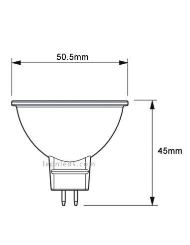 Bombilla Led GU5.3 de Philips 8W en luz cálida 3000K de 36º al mejor precio de internet | LeonLeds Iluminación