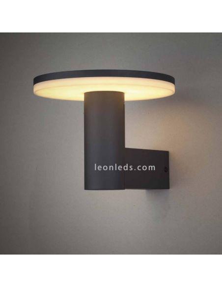 Cerler de Mantra Aplique gris para exterior redondo | LeonLeds Apliques LED