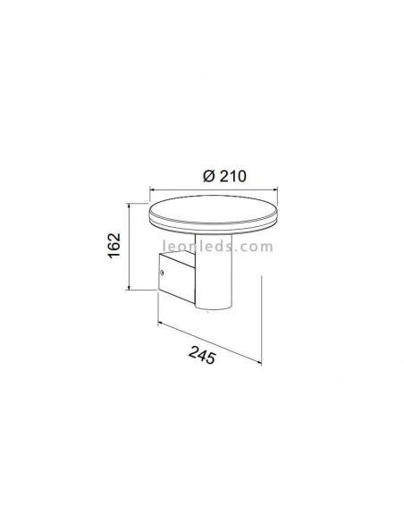 Dimensiones de Aplique LED Cerler de Mantra 6496 | LeonLeds Apliques LED