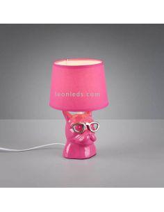 Lámpara de Sobremesa Rosa serie Dosy de Trio Lighting | LeonLeds Lámparas de sobremesa