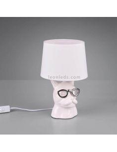Lámpara de sobremesa Blanca serie Dosy de Trio Lighting | LeonLeds Lámparas de sobremesa
