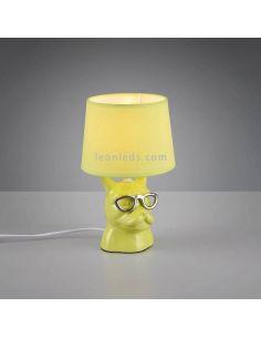 Lámpara de sobremesa verde serie Dosy de Trio Lighting | Lámpara de sobremesa Verdes