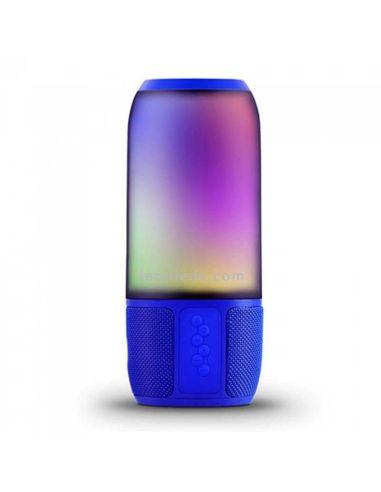 Altavoz Portatil LED Rgb Azul Vtac 8569 | LeonLeds Altazoces Portatiles