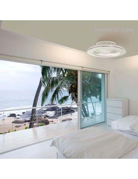 Ventilador de Techo LED blanco serie Alisio de Mantra 6705 | LeonLeds Ventilador de techo LED