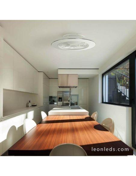Ventilador de techo LED Blanco Alisio de Mantra 6705 | LeonLeds Iluminación
