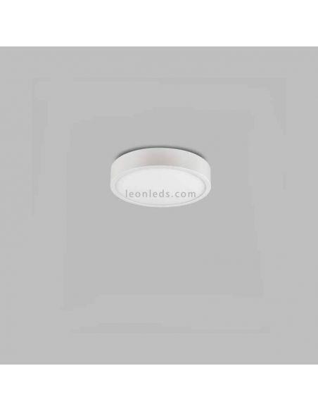 Plafón LED superficie redondo de color Blanco serie Saona de Mantra | LeonLeds Plafones LED